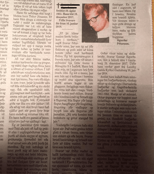 Picture Of Ed Sheeran Published By Mistake With Icelandic Obituary