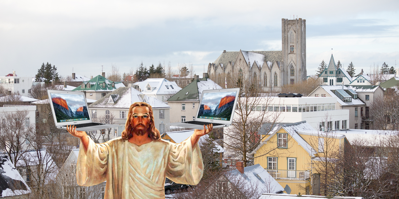 The Icelandic Confirmation: Free Laptop With Every Jesus Accepted!