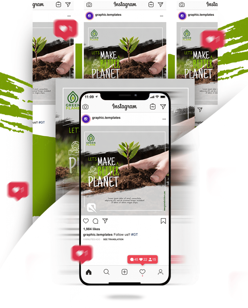 Instagram Template PSD