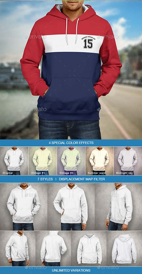 GraphicRiver Hoodie Mockup | Men's Edition