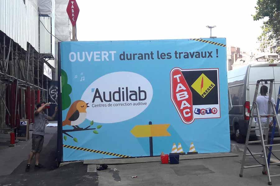 bannière banderoles publicitaires nantes bouguenais