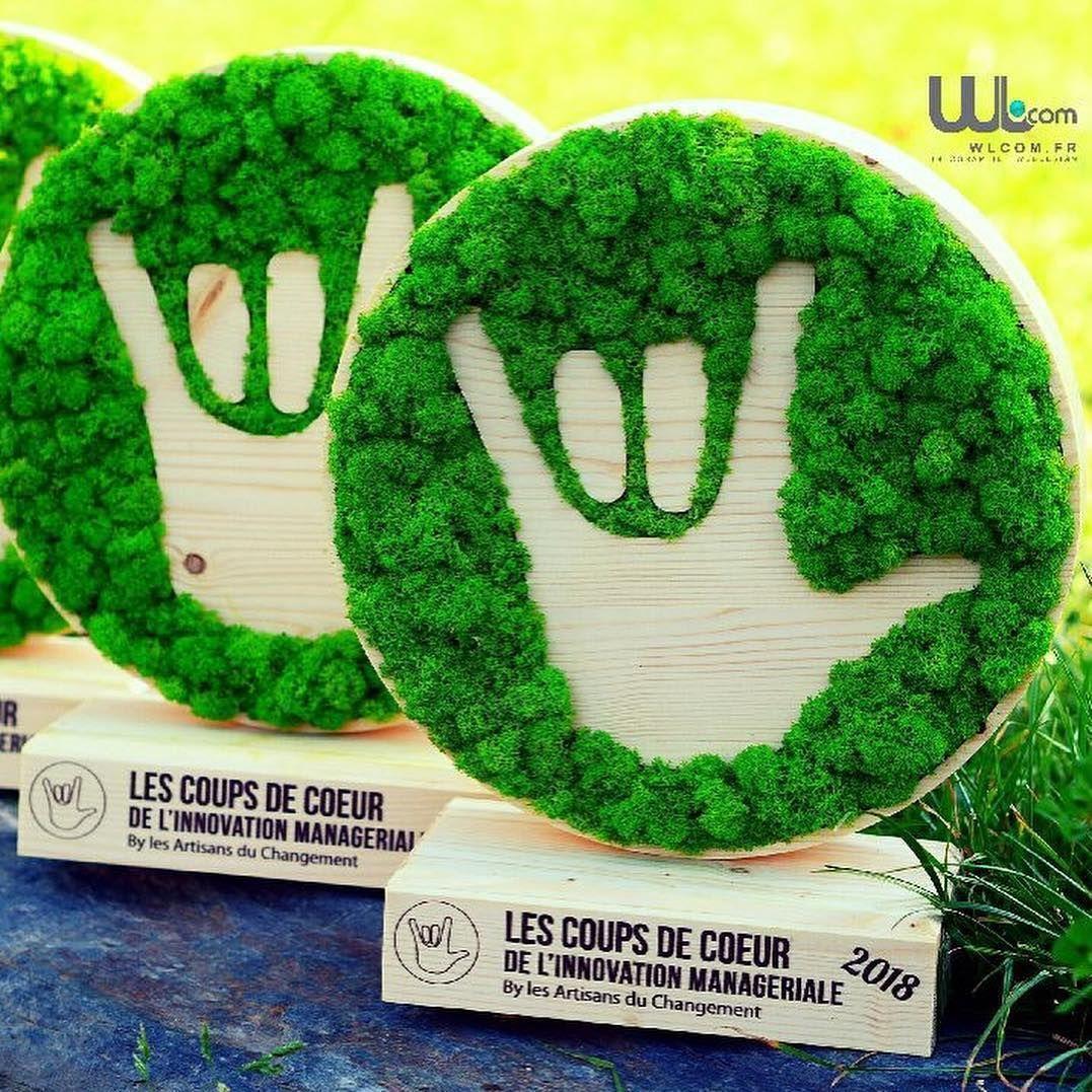 trophée logo végétalisé