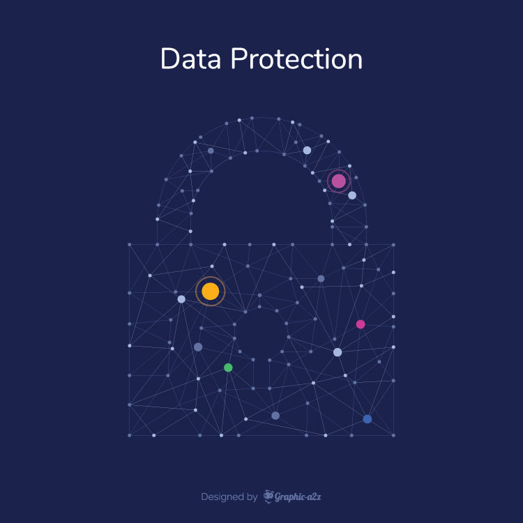 Data Protection infographic free vector design