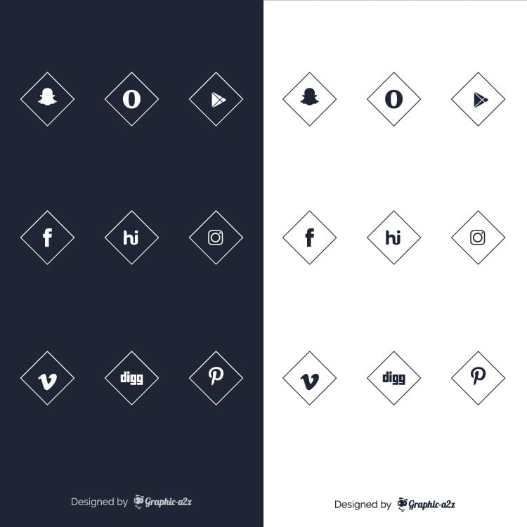 Free social media vector icons for business