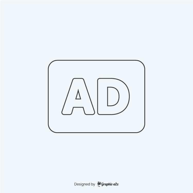 Audio description lineal icon vector