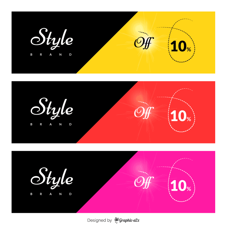 Sale offer banner flat vector design