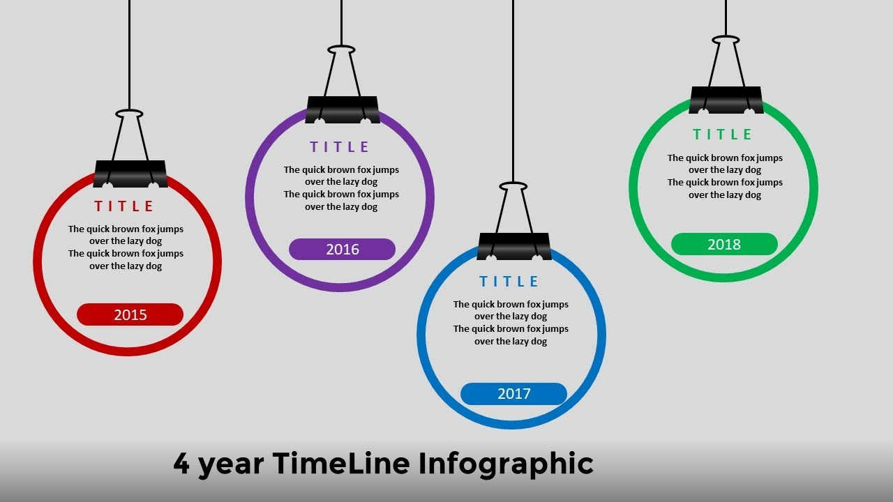 1 create 4 year circular timeline infographic powerpoint