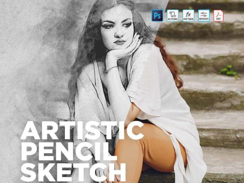 Photoshop Actions Artistic Pencil Sketch Effect