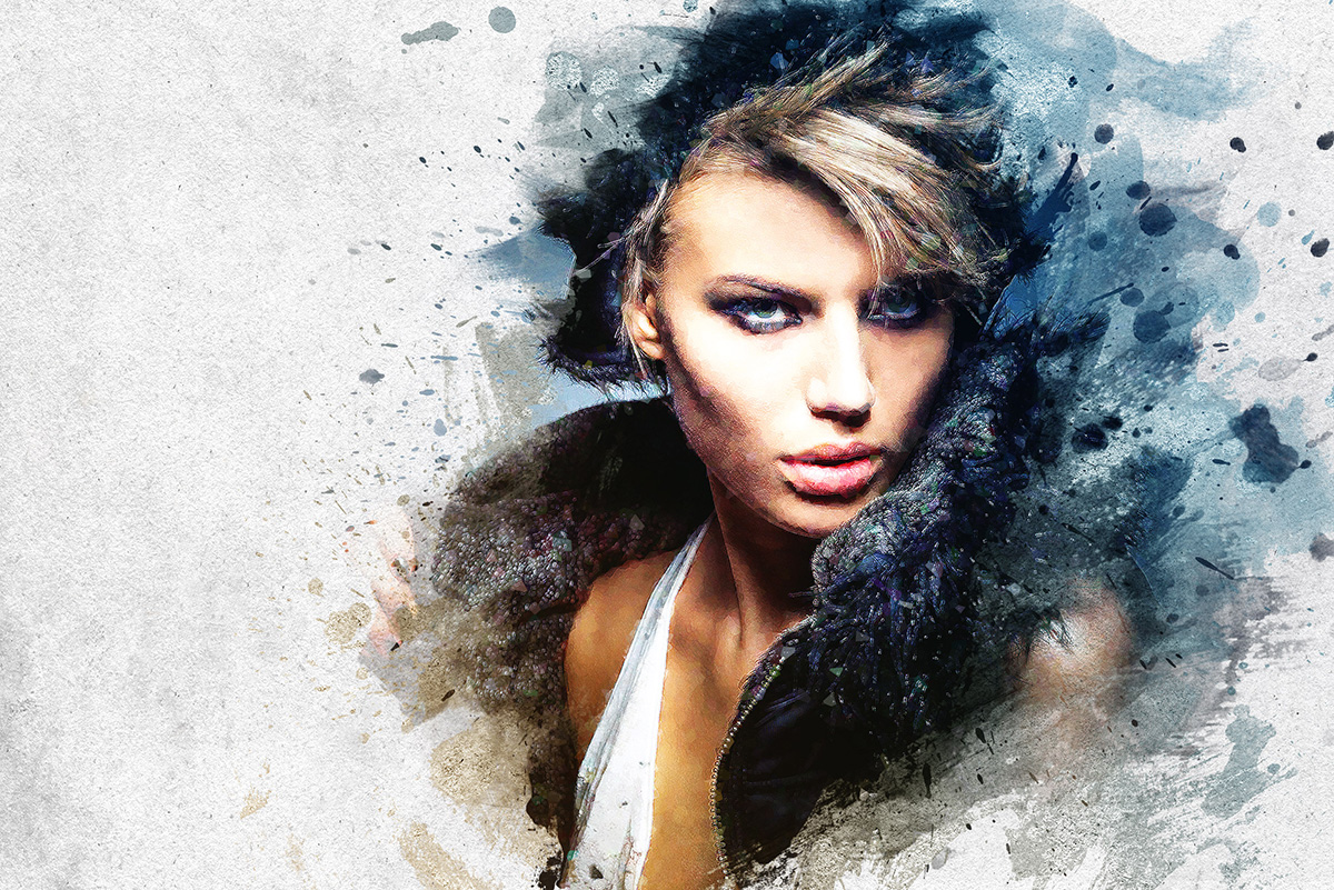 Artistic Paint Splash photoshop actions