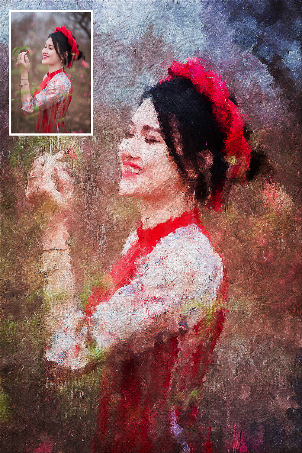 Palette Knife Oil Painting Effect