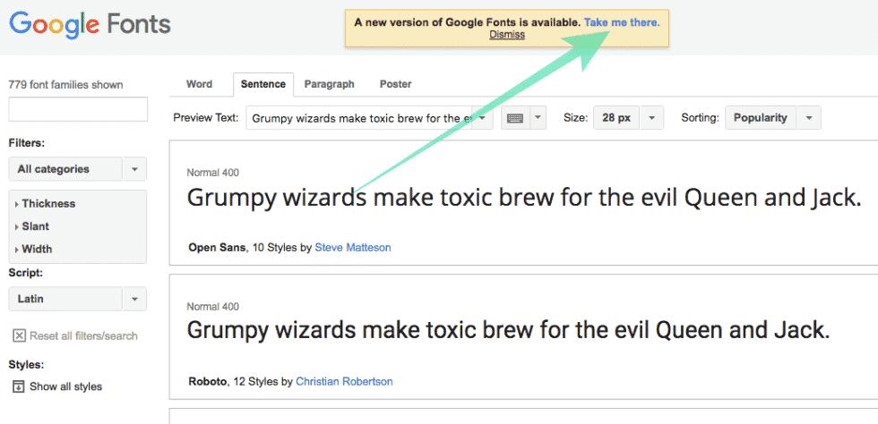 new-google-fonts
