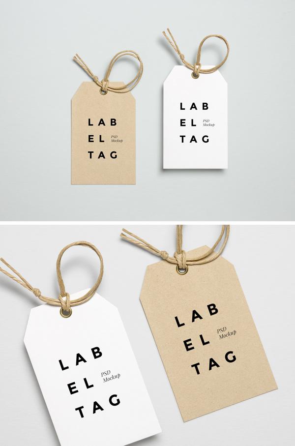 Label Tag PSD MockUp 2 GraphicBurger