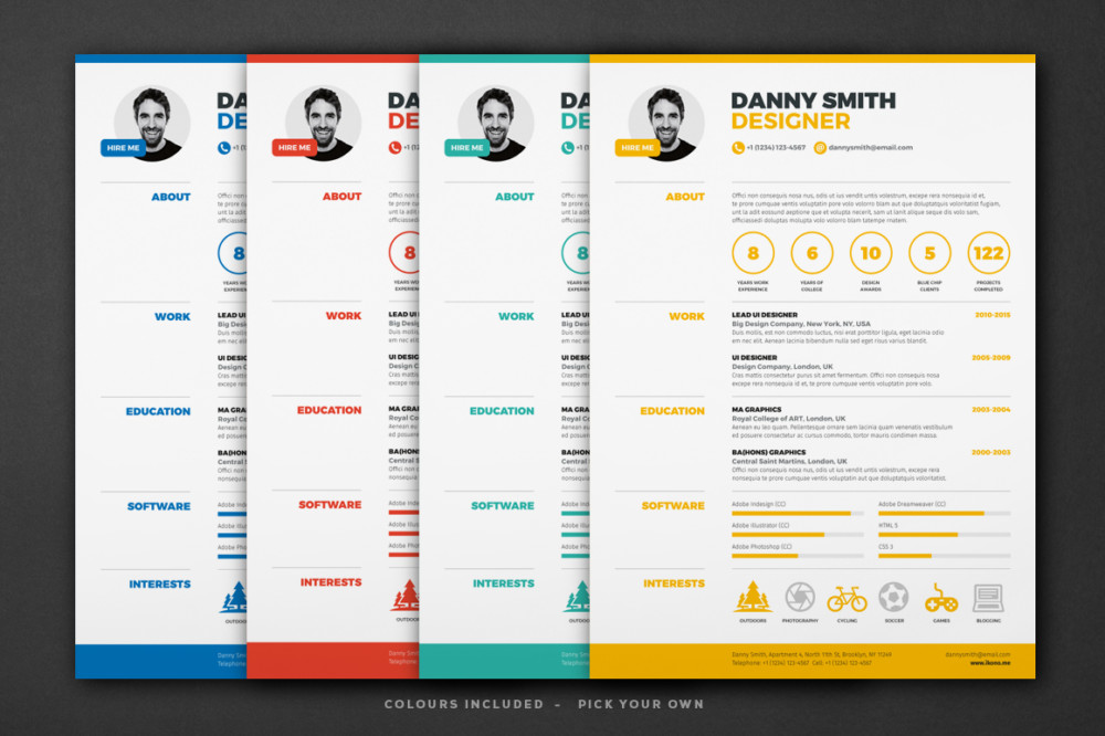 18 one page resume template ai indesign psd and word format