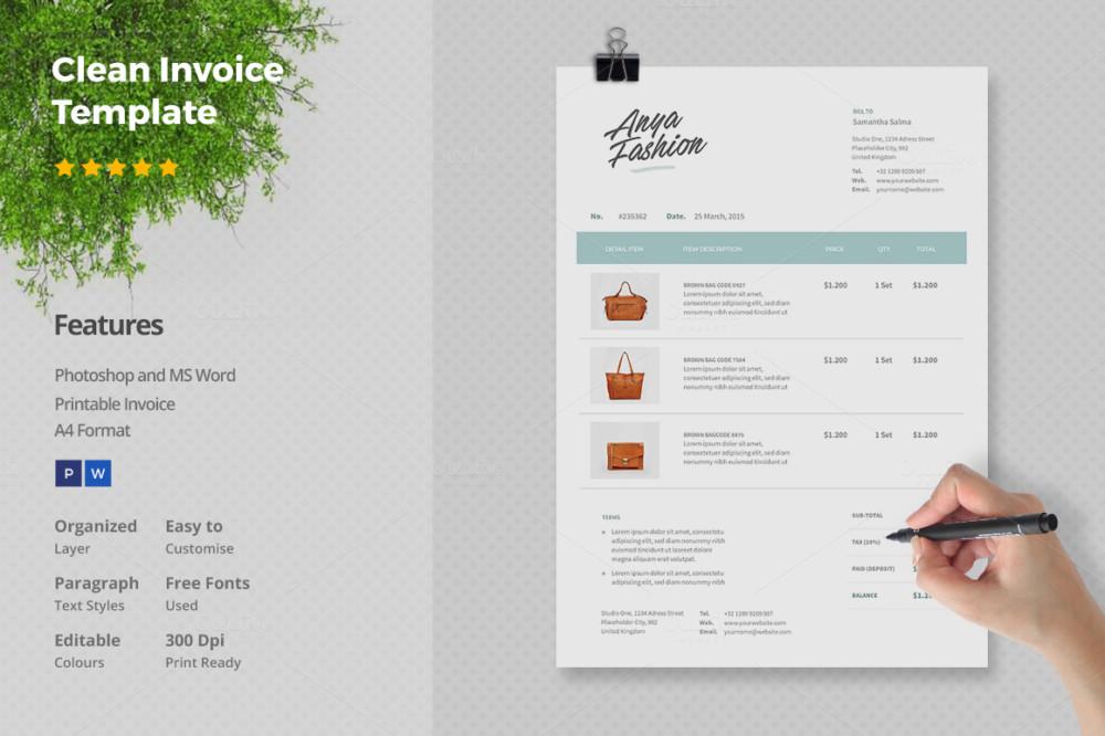 invoice template ai free – residers, Simple invoice
