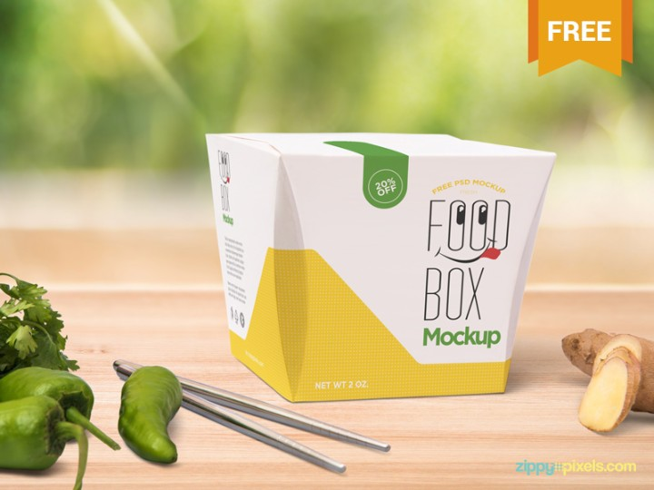 Download 20+ Free Food Box Mockup PSD for Branding - Graphic Cloud