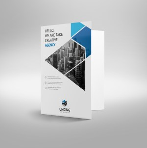 Aether Professional Corporate Presentation Folder Template