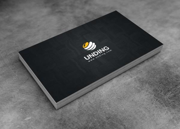 Dark Minimalist Corporate Business Card Template