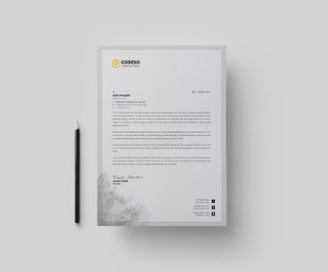 Gray Stylish Corporate Letterhead Template