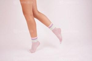 White nylon socks stock photo