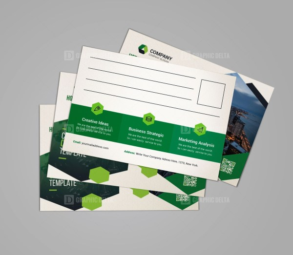 Clean Corporate Postcard Design