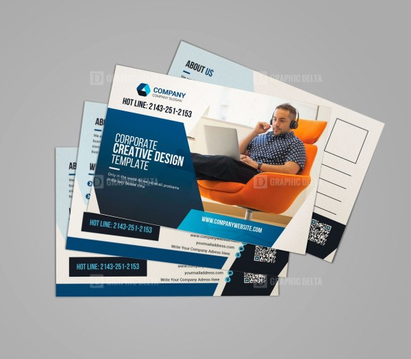 Print Ready Business Postcard Template