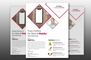 PSD Mobile Flyer Template