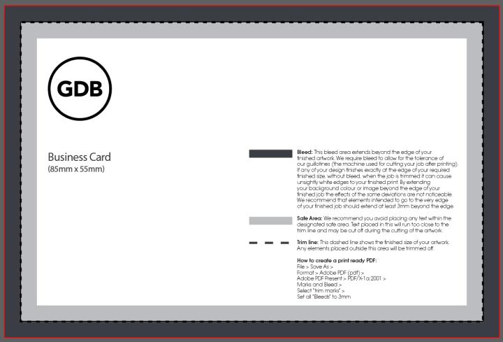 Business Card Size UK