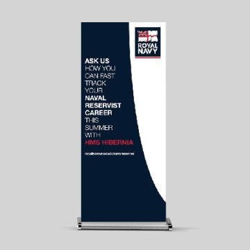 roll up banner design - graphic design Belfast