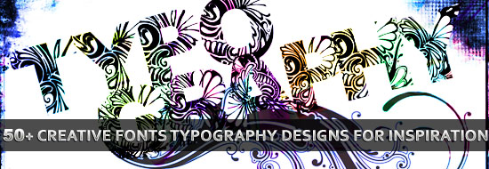 Post image of 50 Creative Fonts Typography Designs for  Inspiration