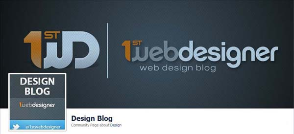 1st Web Design Blog Facebook Timeline Cover