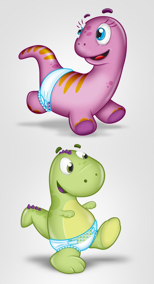 Dino Baby mascote