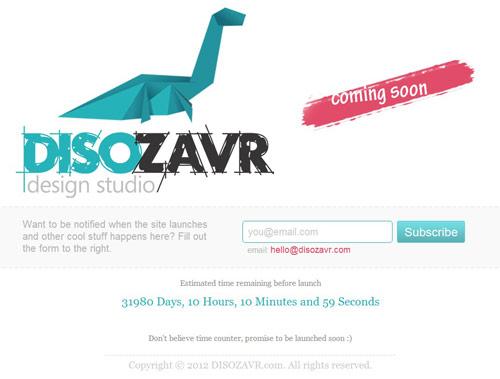 Disozavr Design Studio Coming Soon Page Design
