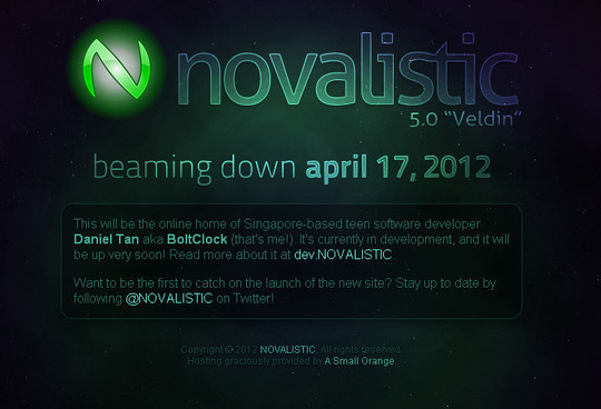 Novalistic Coming Soon Page Design