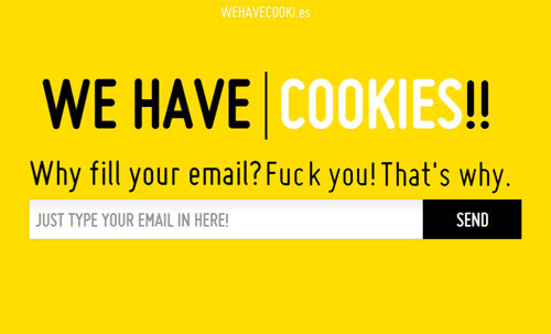 We Have Cookies Coming Soon Page Design