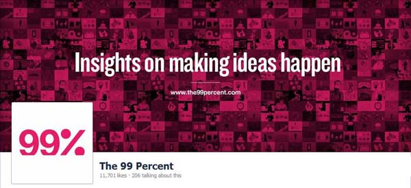 The 99 Percent Facebook Timeline Cover