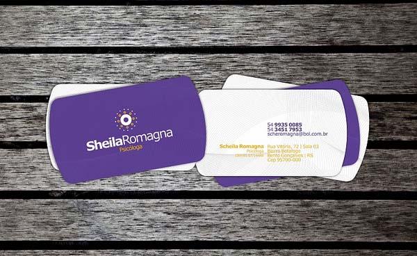 Purple Business Card Design