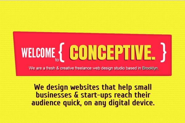 Single page web designs