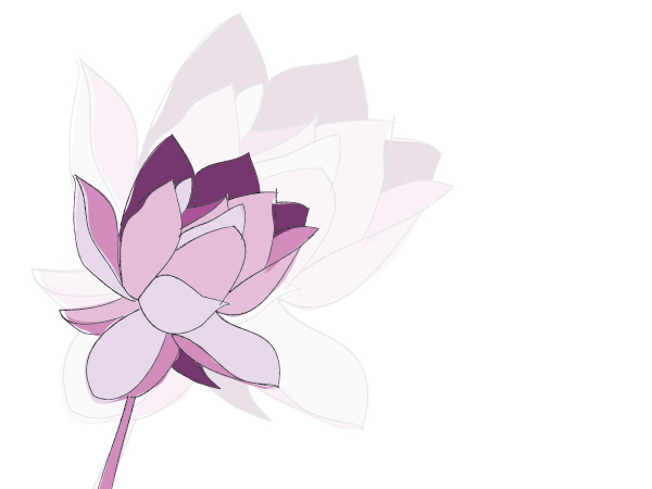 Purple Flower Vector Graphic