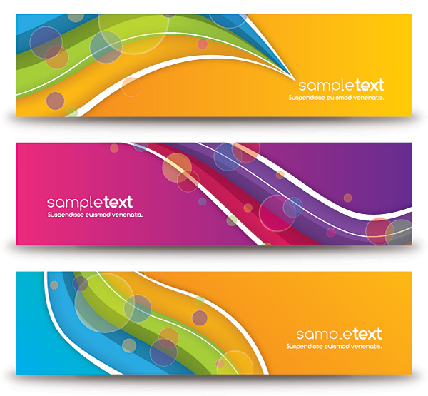Colorful Abstract Banners Vector Graphic