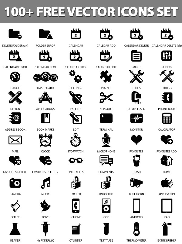 Free Vector Icons Pack 19