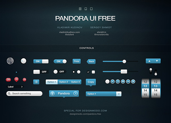 Free UI Kits For Web and Graphic Designers 6