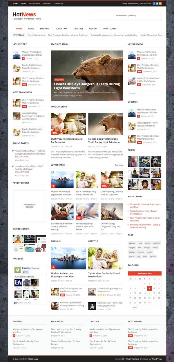 Top Premium News and Magazine Responsive WordPress Themes - 1
