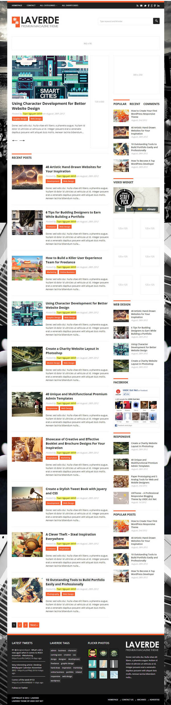 Top Premium News and Magazine Responsive WordPress Themes - 10