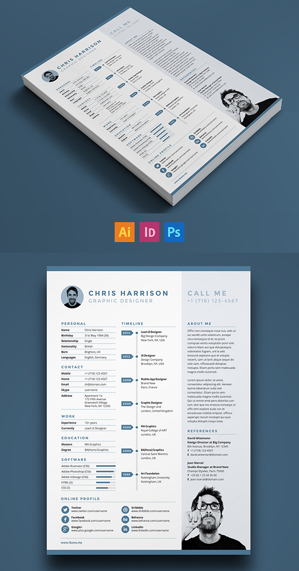 free modern resume templates amp psd mockups freebies graphic