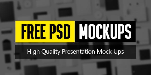 New Free PSD Mockups 26 Mockup Designs Freebies