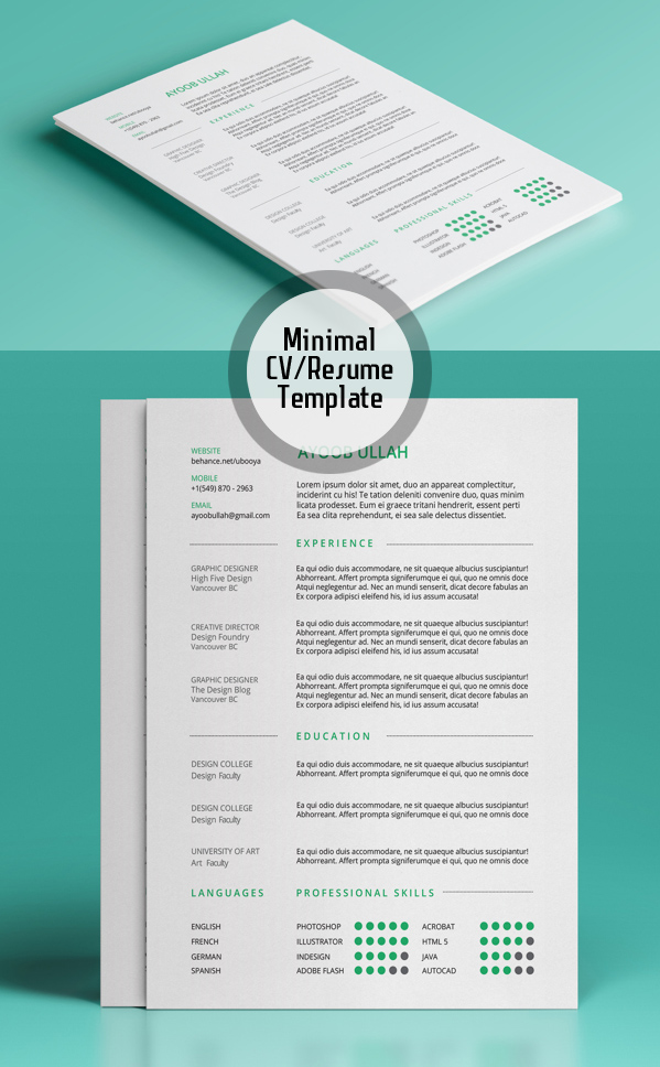 free modern resume templates amp psd mockups freebies graphic