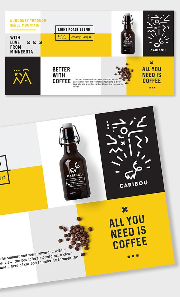 Branding: Caribou Coffee - Business Card