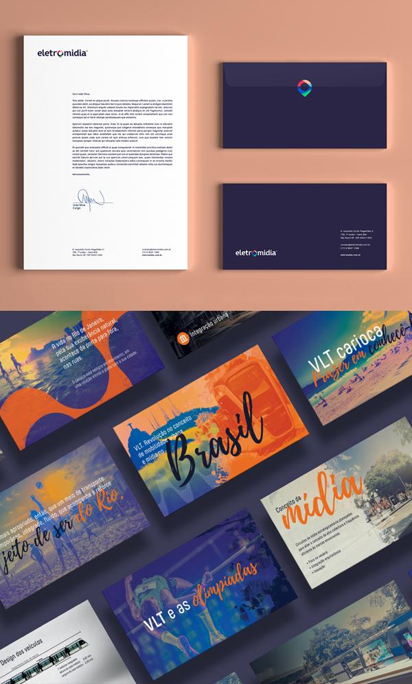 Branding: Eletromidia - Stationary Items