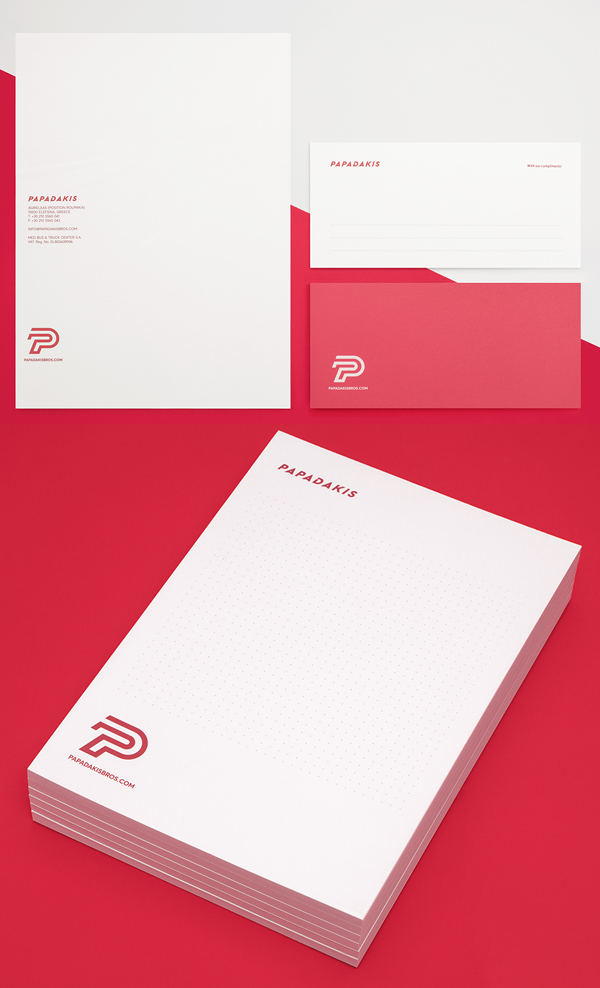 Branding: Papadakis Bros - Stationary Items