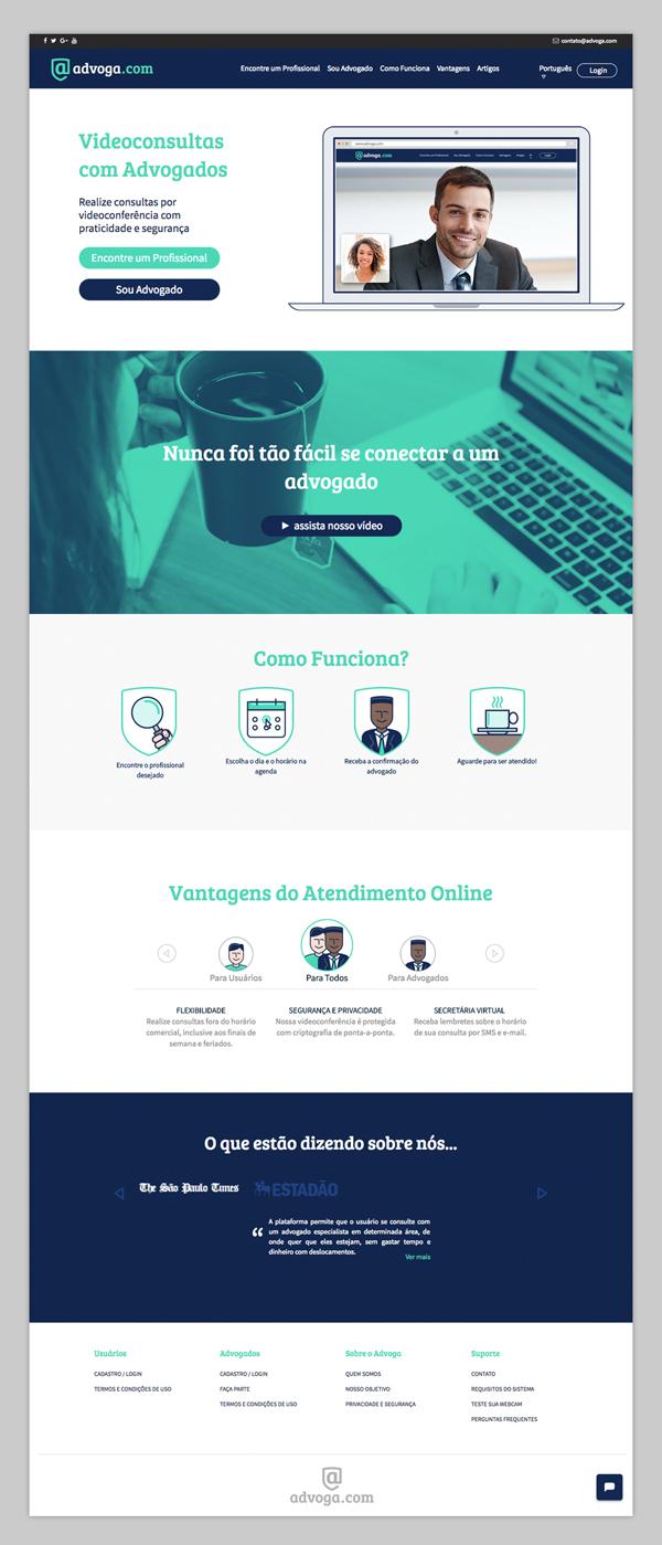 Branding: Advoga - Website Design